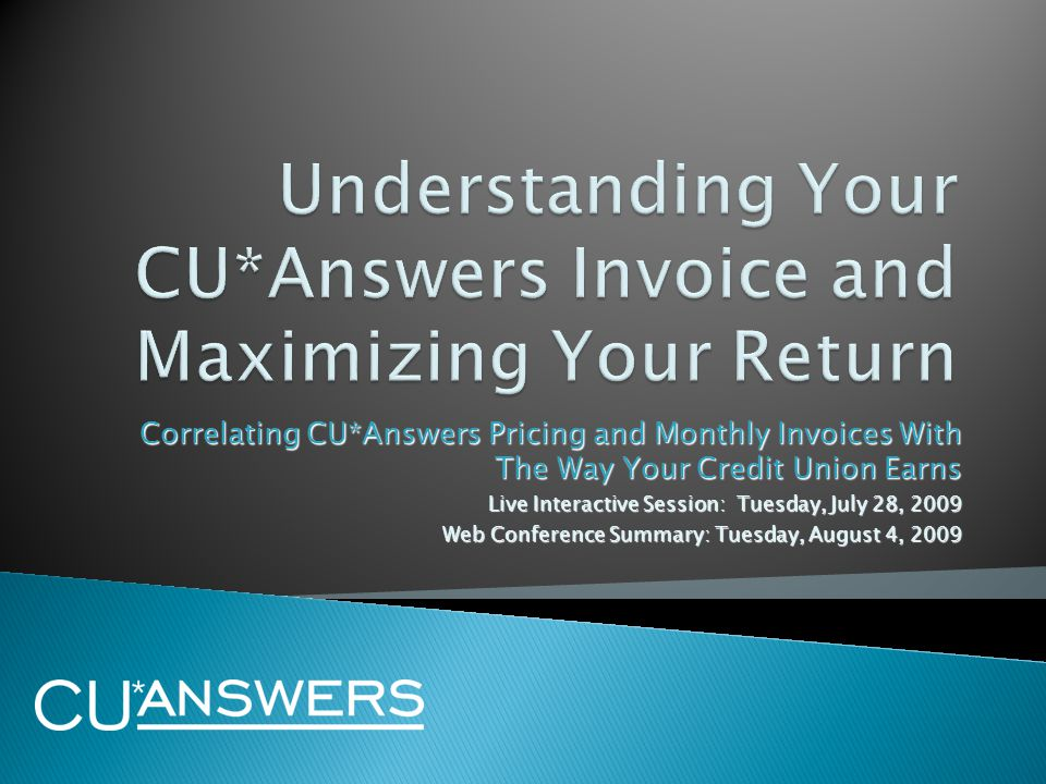  As we interact today, we all have several hats to wear:  As credit union buyers of CUSO services, you're here to make sure you understand the deal and how that deal is evolving (due diligence)  As credit union operators, you're here to help us better match our services with your business plans and future directions (focus group)  As CUSO stakeholders, you're here to make sure that the CUSO is putting its best foot forward in designing products and services that are priced properly for credit union operations (due diligence)  As CUSO stakeholders, you're here working by proxy for all of the interested parties who are vested in the success of our network and the credit union industry (focus group) 2