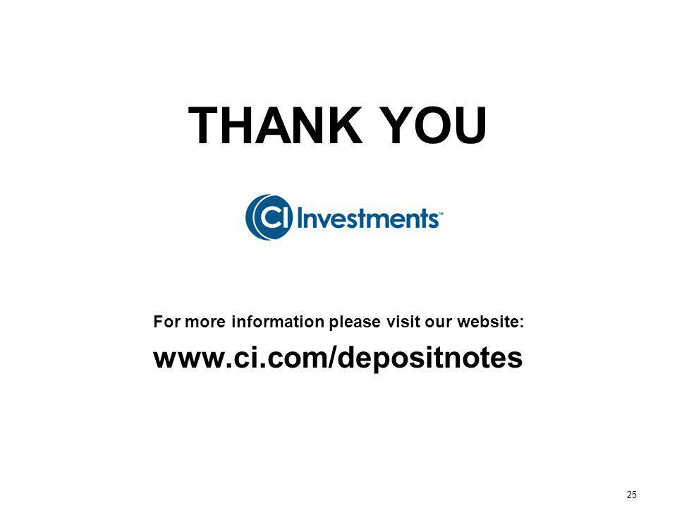 25 THANK YOU For more information please visit our website: www.ci.com/depositnotes