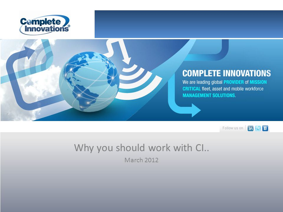 Why you should work with CI.. March 2012