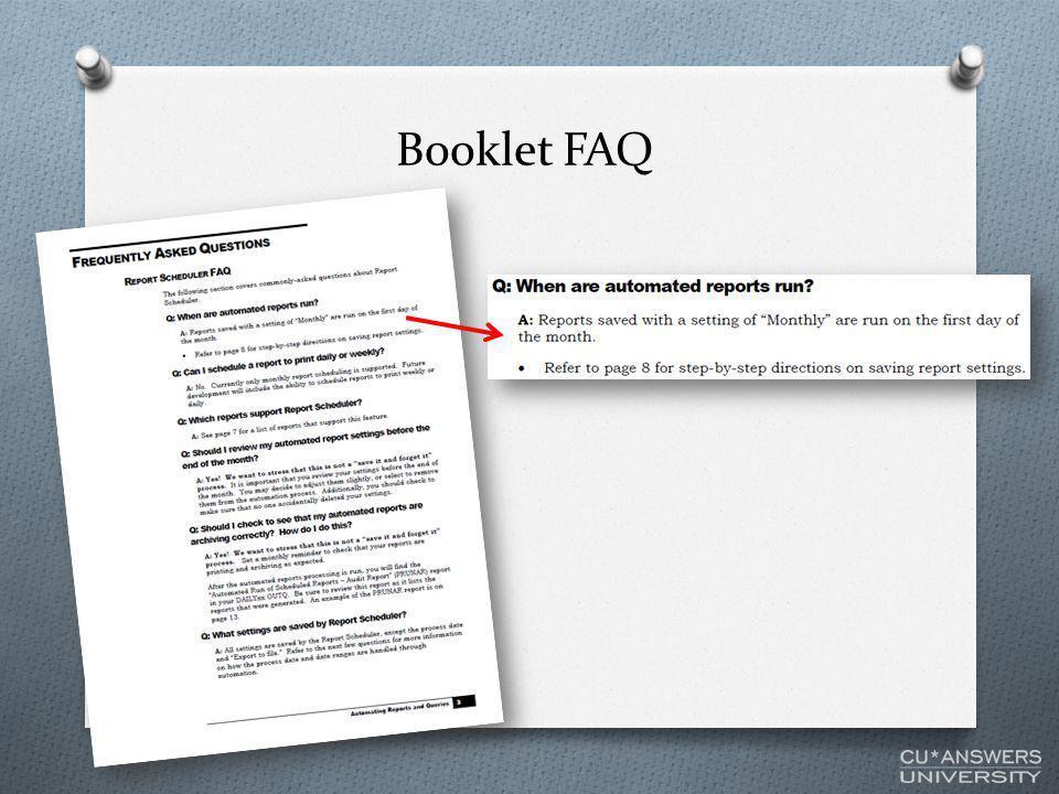 Booklet FAQ