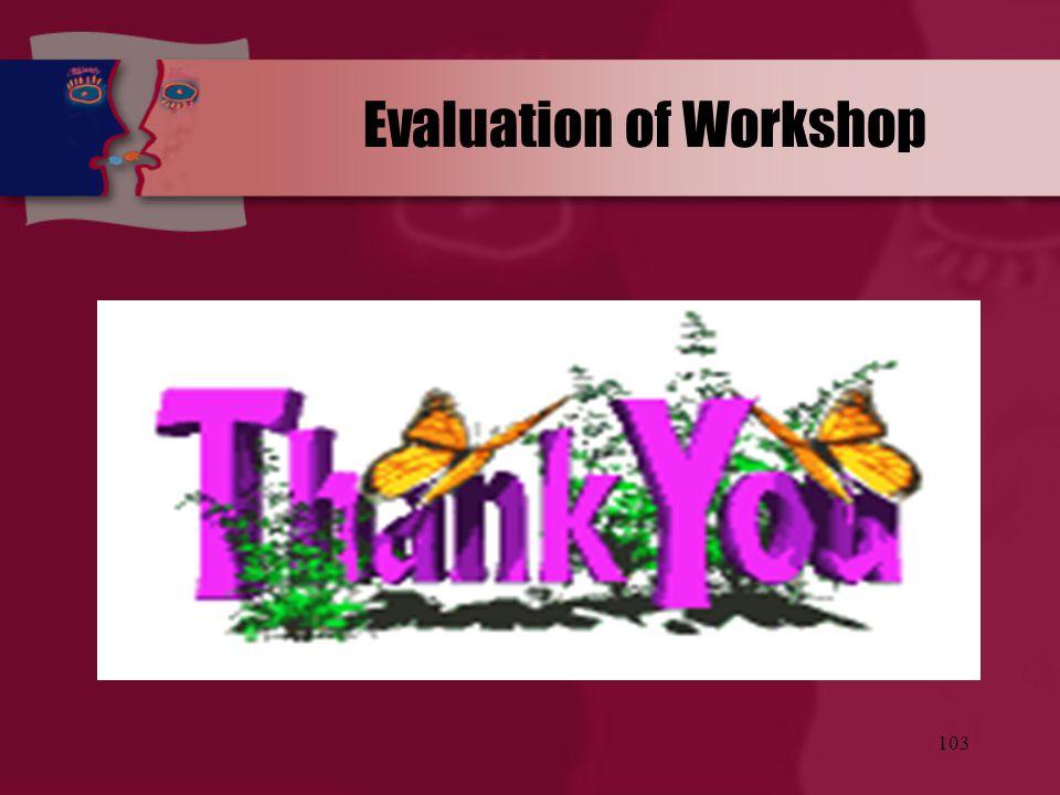 103 Evaluation of Workshop