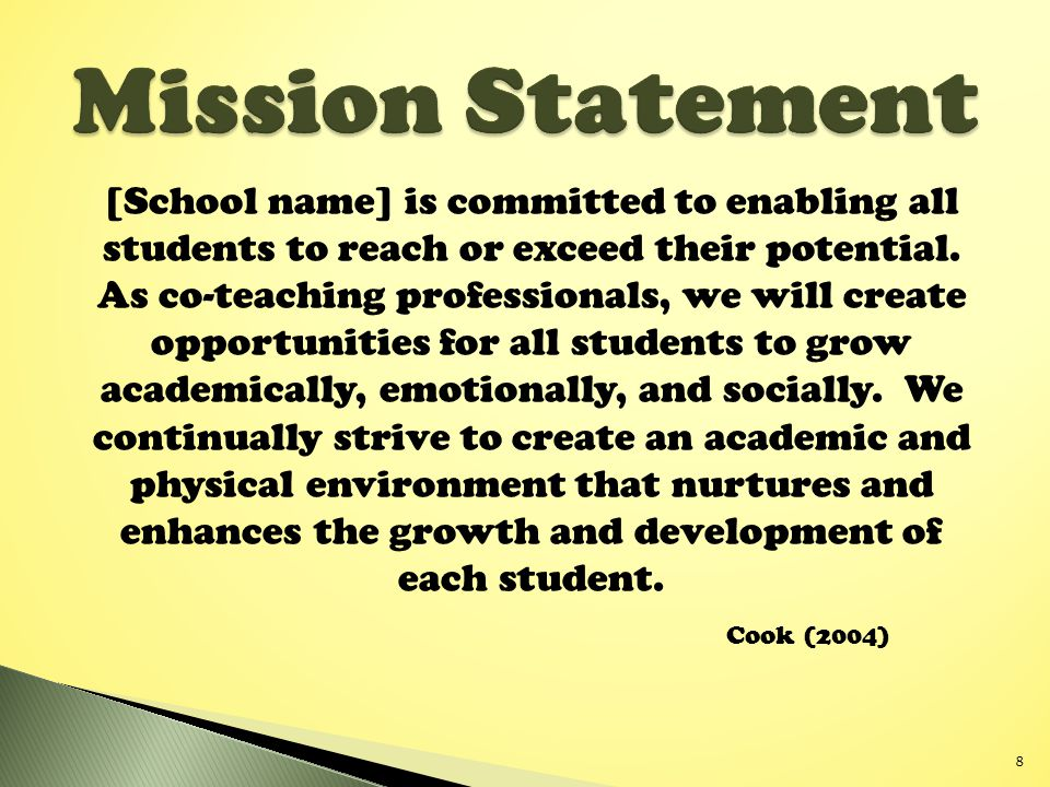 [School name] is committed to enabling all students to reach or exceed their potential.