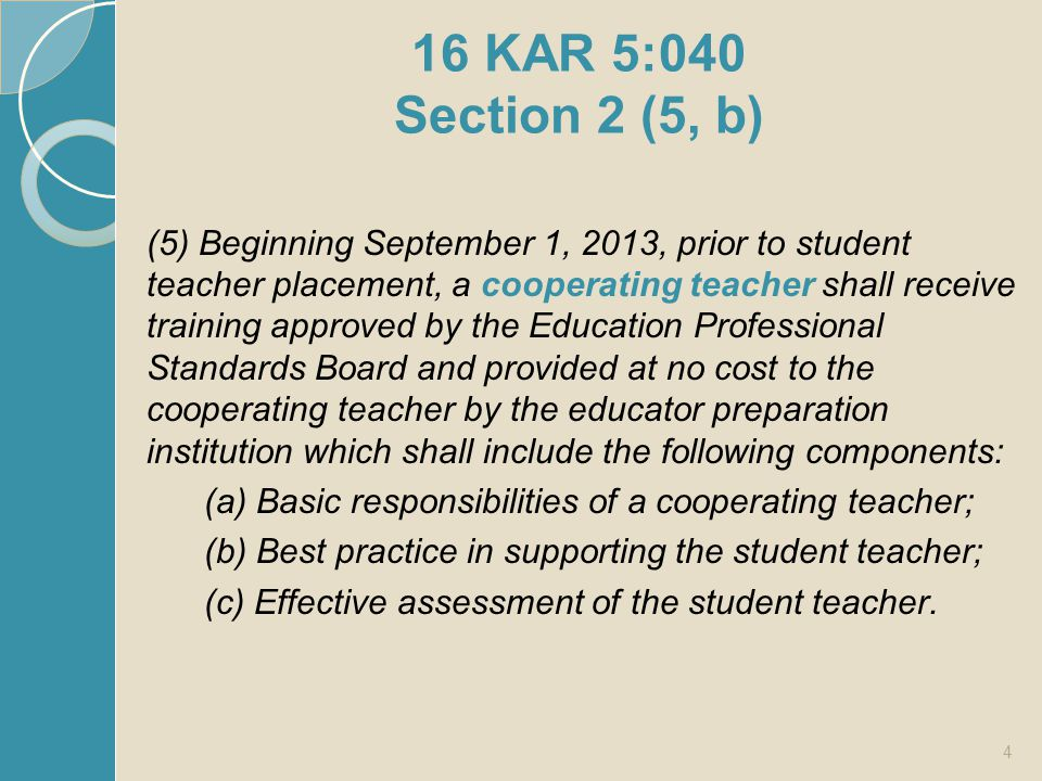 Cooperating Teacher Responsibilities List three key responsibilities for the CT 15