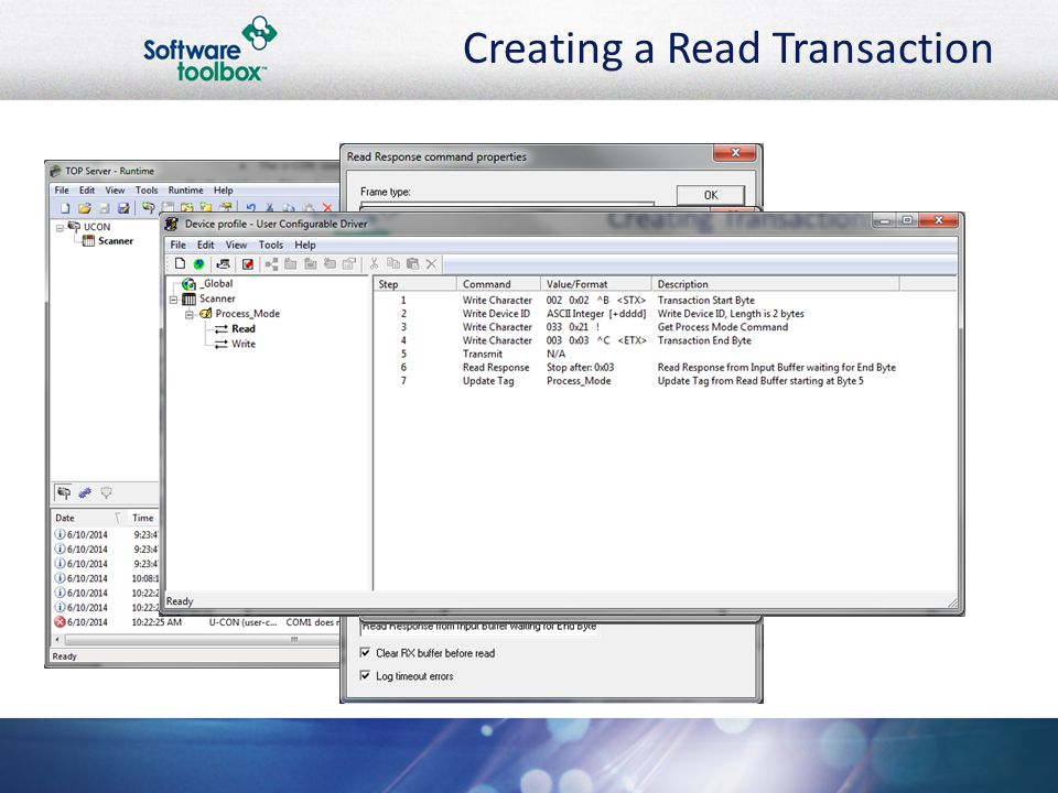 Creating a Read Transaction