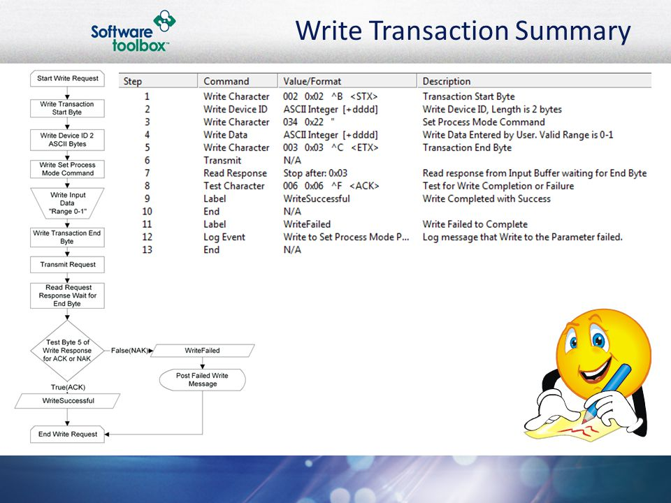 Write Transaction Summary