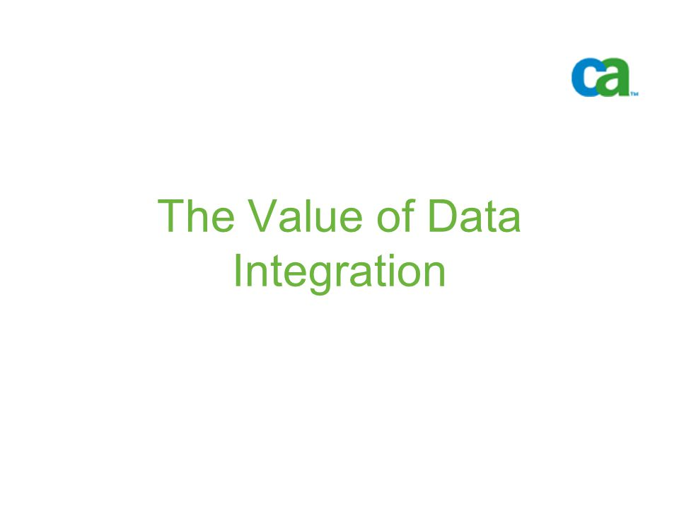 The Value of Data Integration