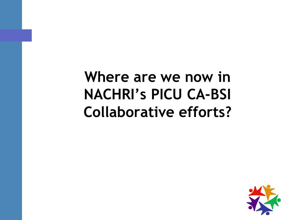 Where are we now in NACHRI's PICU CA-BSI Collaborative efforts