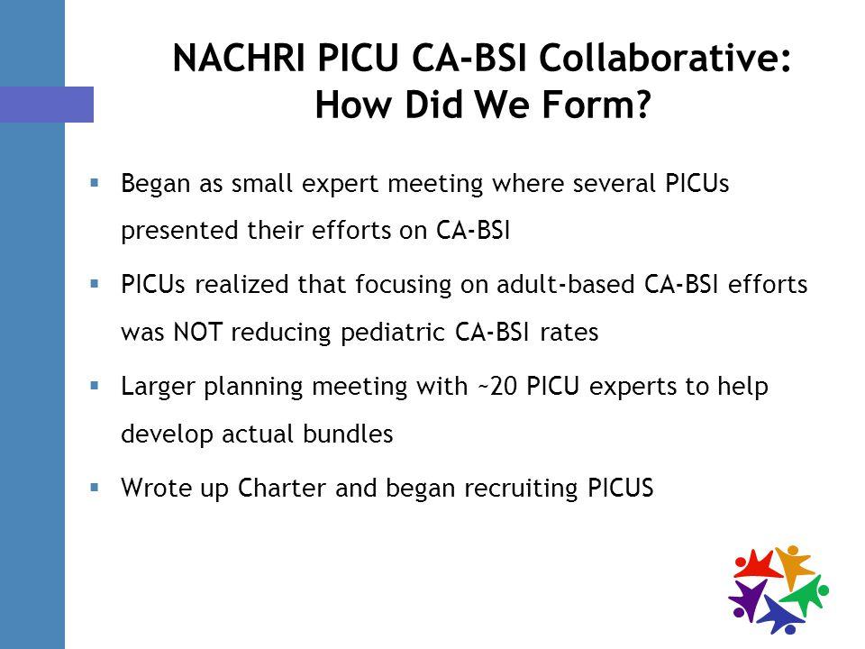 NACHRI PICU CA-BSI Collaborative: How Did We Form.