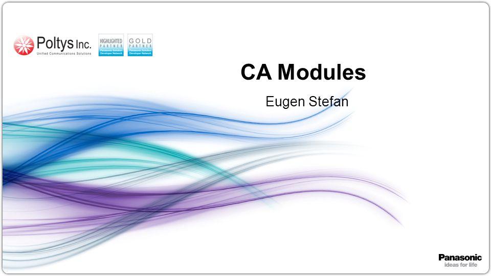 1 CA Modules Eugen Stefan