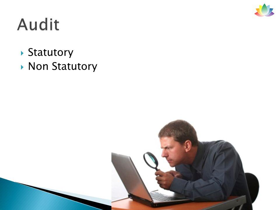  Statutory  Non Statutory 3