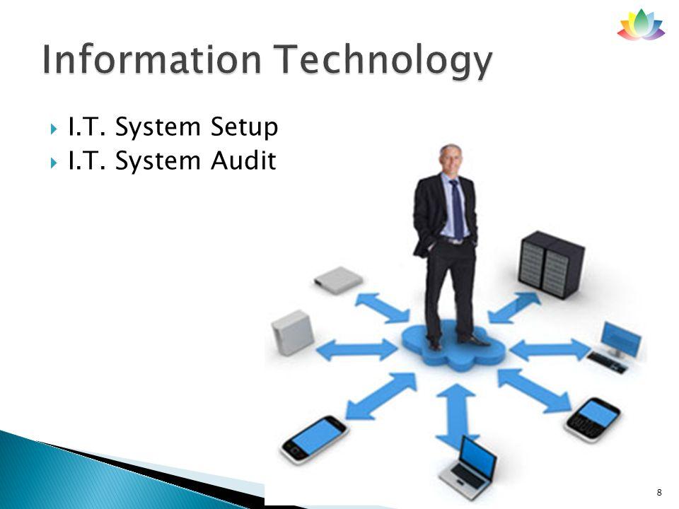  I.T. System Setup  I.T. System Audit 8