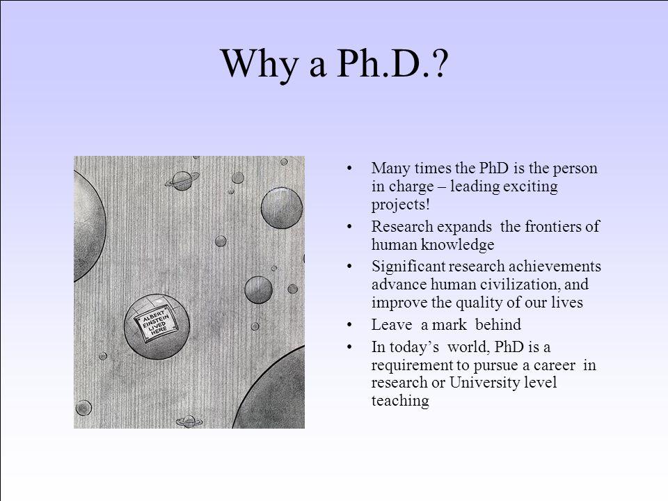 Why a PhD in CS.