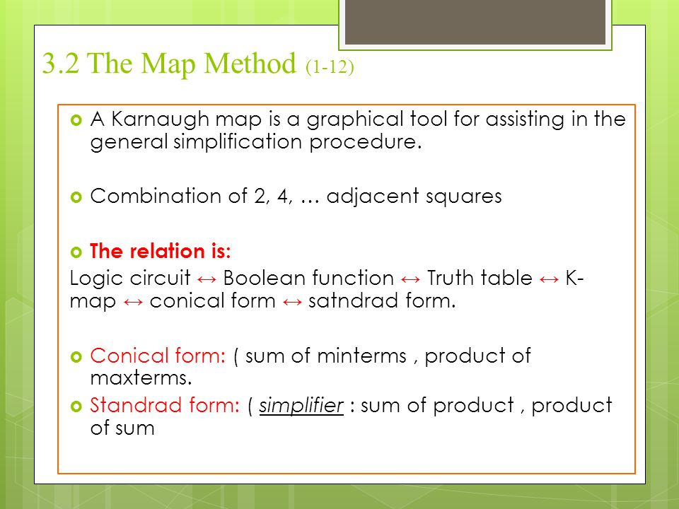 3.2 The Map Method (2-12) Two-variable maps: Y'Y XX'