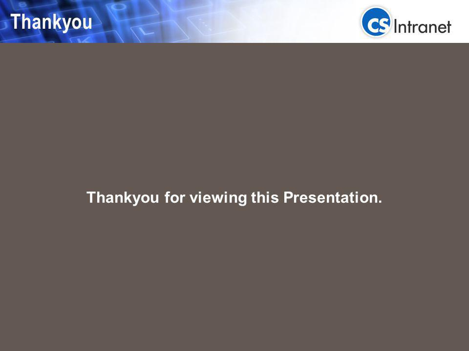 Key Functions: Thankyou for viewing this Presentation. Thankyou