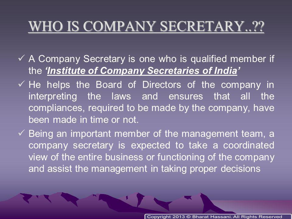 WHO IS PRIVATE SECRETARY..?.