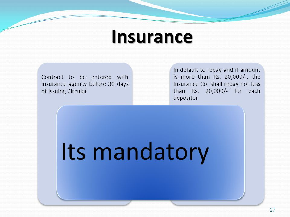 Insurance In default to repay and if amount is more than Rs. 20,000/-, the Insurance Co. shall repay not less than Rs. 20,000/- for each depositor Con
