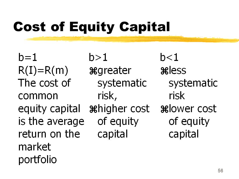 56 Cost of Equity Capital