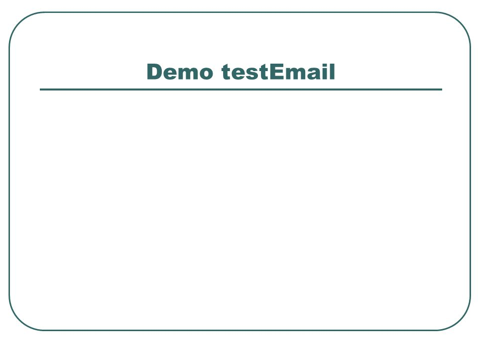 Demo testEmail