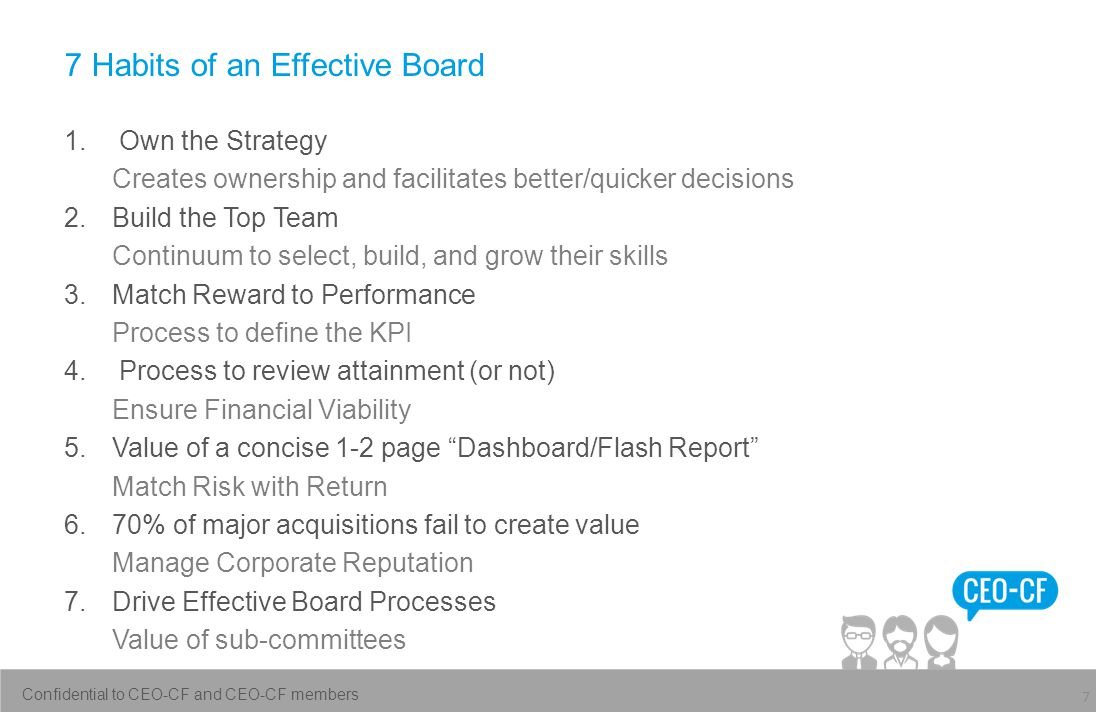 7 Habits of an Effective Board 1.