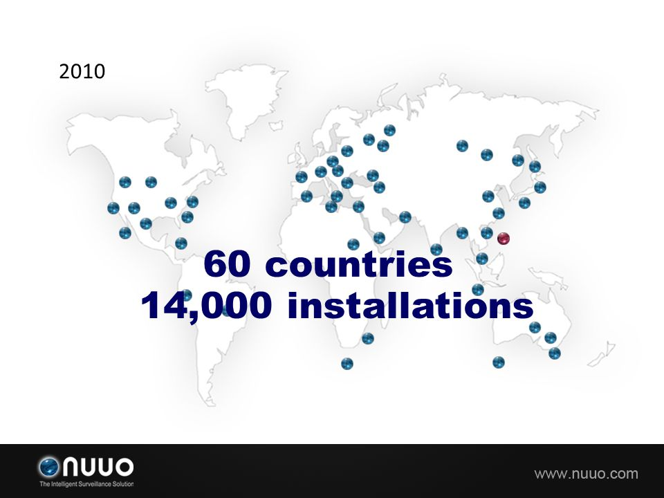 2010 60 countries 14,000 installations