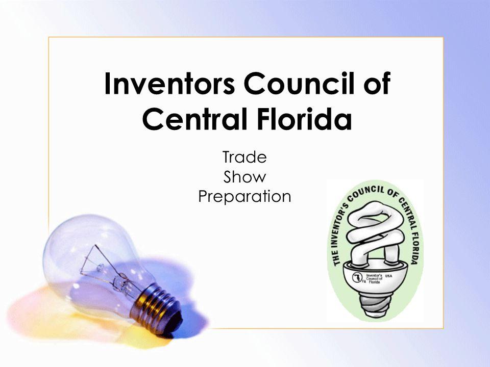 Inventors Council of Central Florida Trade Show Preparation