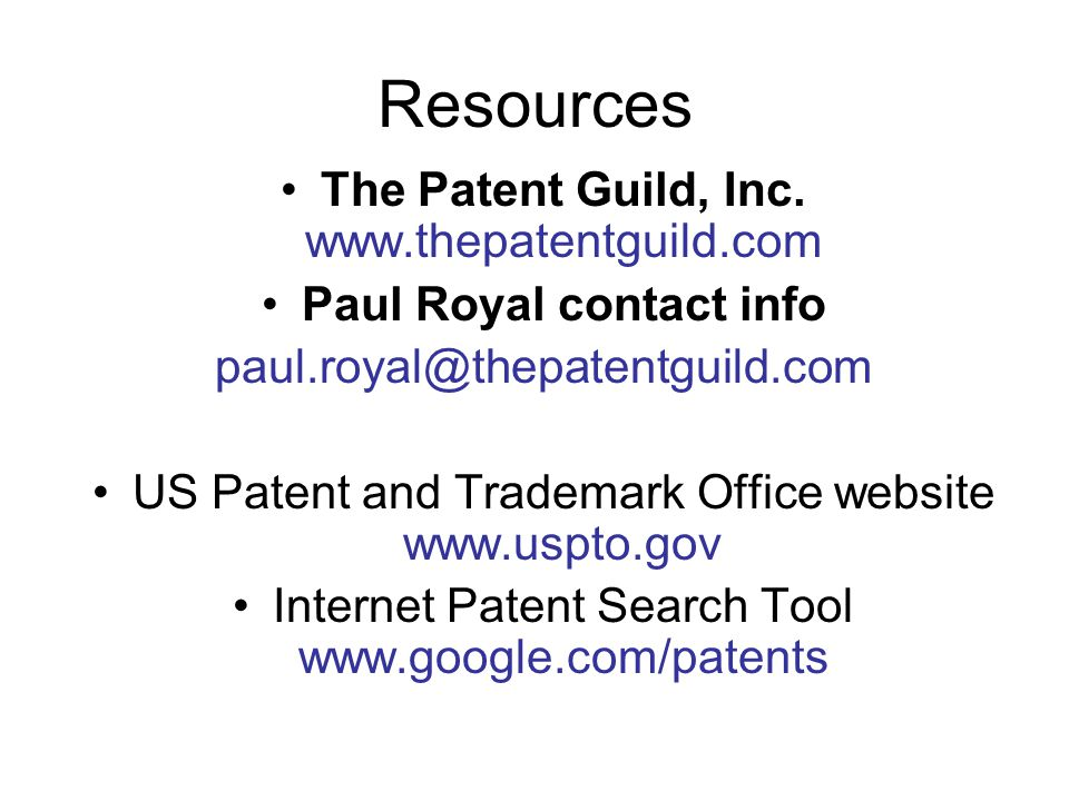 Resources The Patent Guild, Inc.