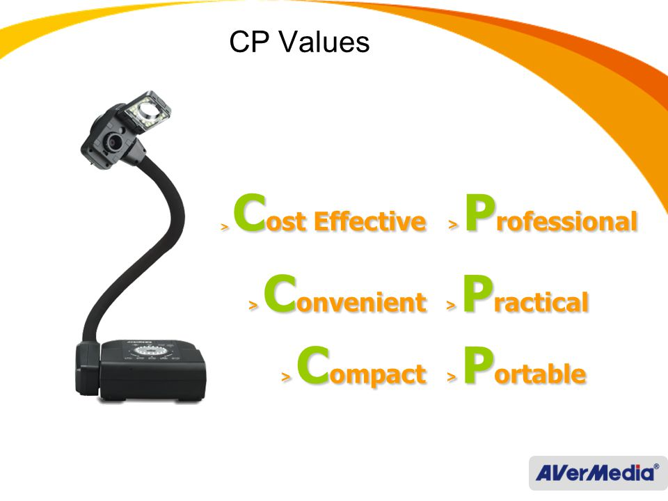 AVerVision CP130 Bend to the core 850k pixels and 8X digital zoom 12fps max.