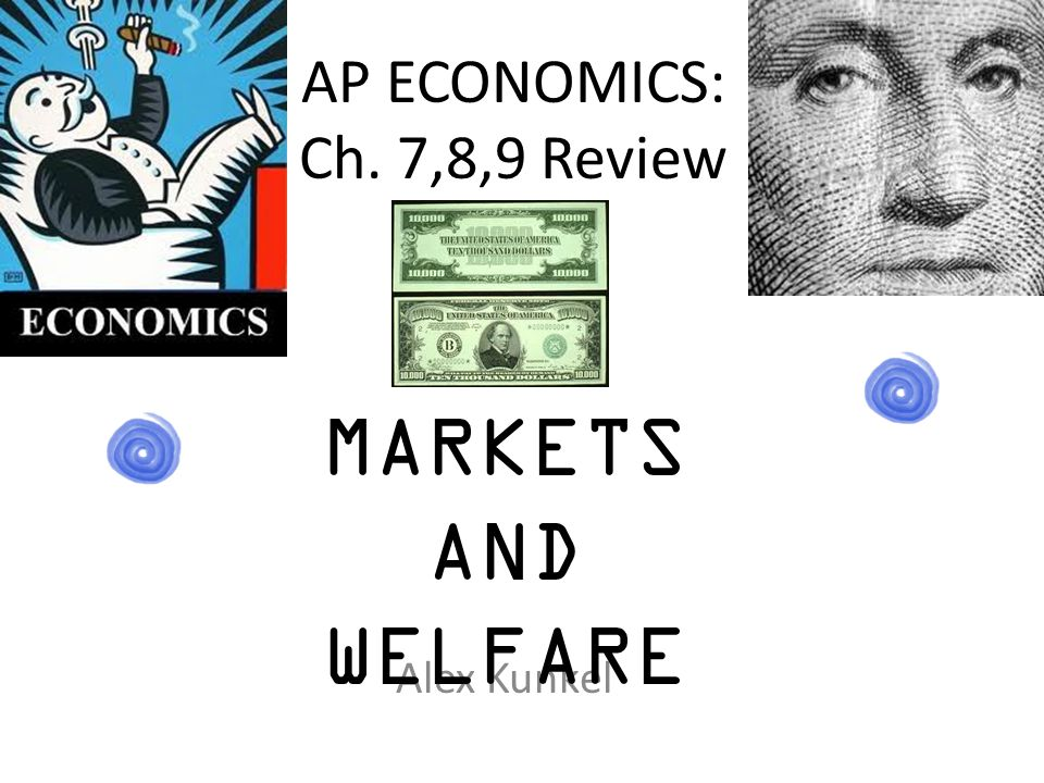 AP ECONOMICS: Ch. 7,8,9 Review Alex Kunkel MARKETS AND WELFARE