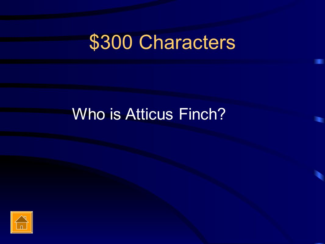 $300 Characters Who is Atticus Finch?