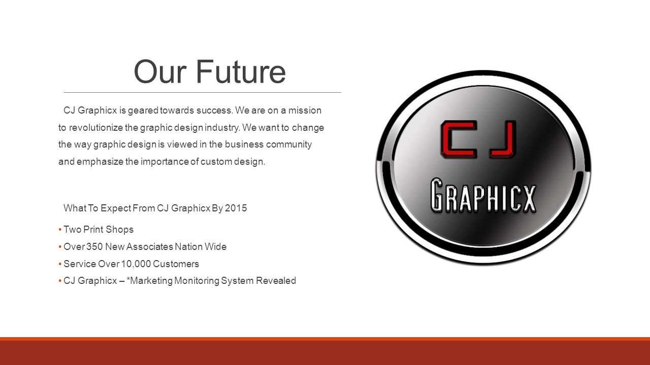 Our Future CJ Graphicx is geared towards success.