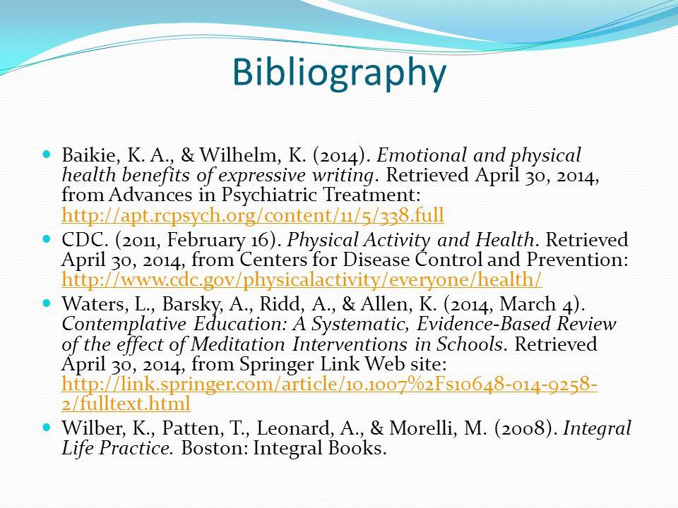Bibliography Baikie, K.A., & Wilhelm, K. (2014).