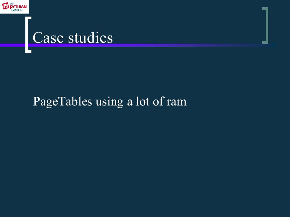 Case studies PageTables using a lot of ram