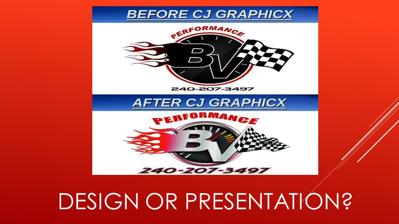 DESIGN OR PRESENTATION