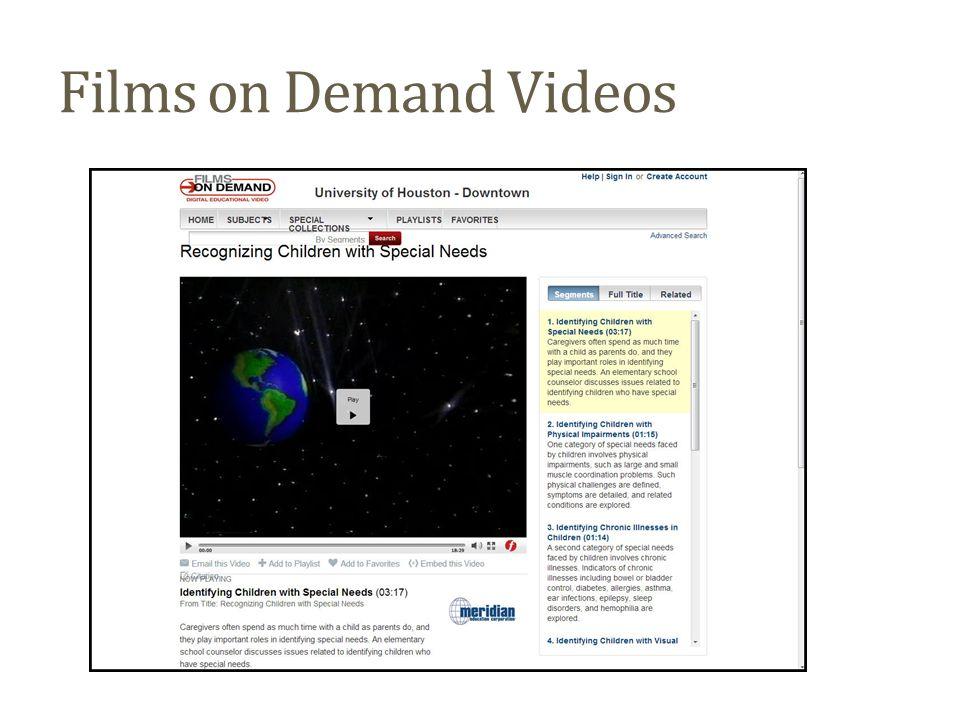 Films on Demand Videos