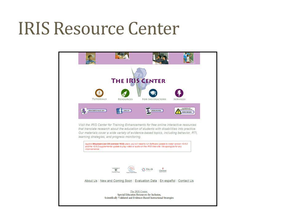 IRIS Resource Center