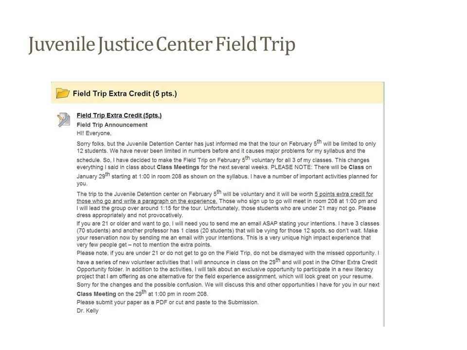 Juvenile Justice Center Field Trip