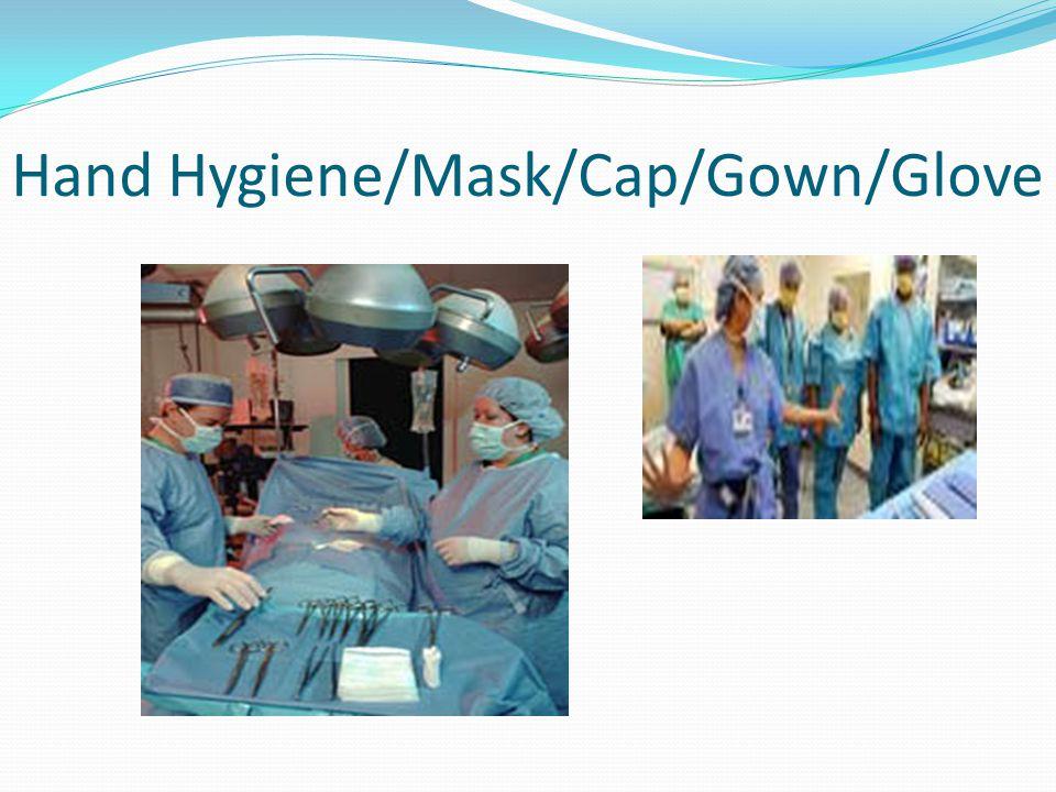 Hand Hygiene/Mask/Cap/Gown/Glove