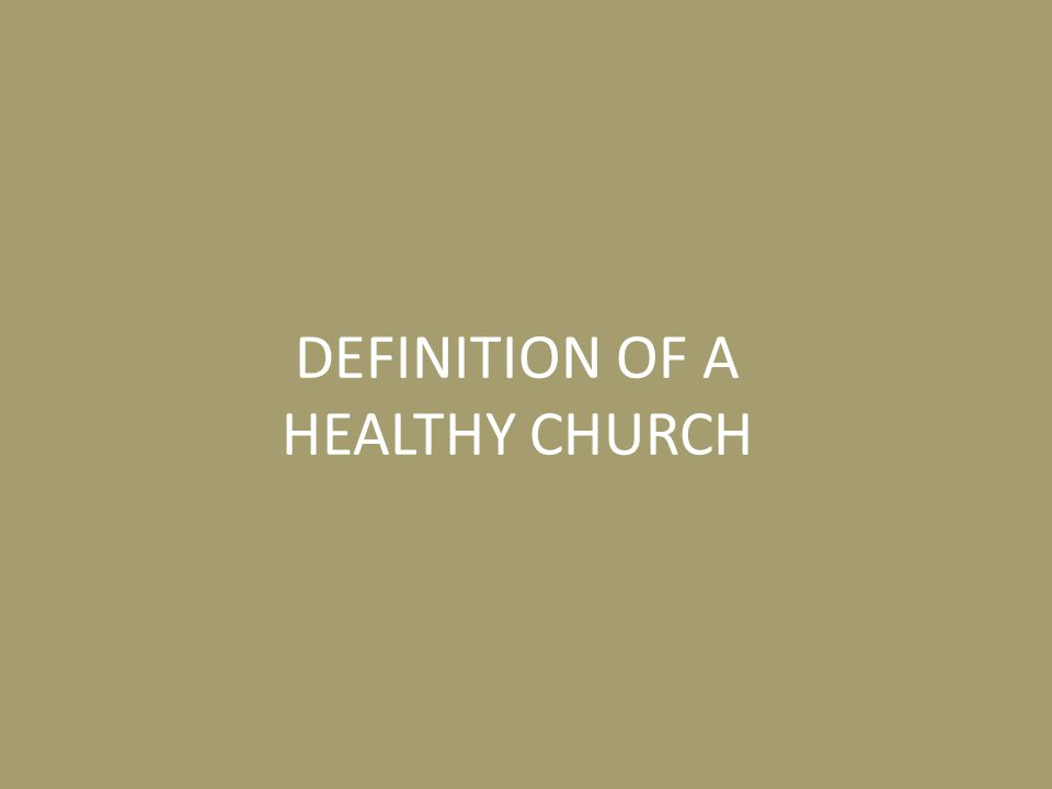 Can a church be considered healthy if the majority of the members are not growing in spiritual maturity and becoming more like Christ.