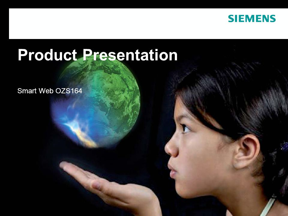 Product Presentation Smart Web OZS164