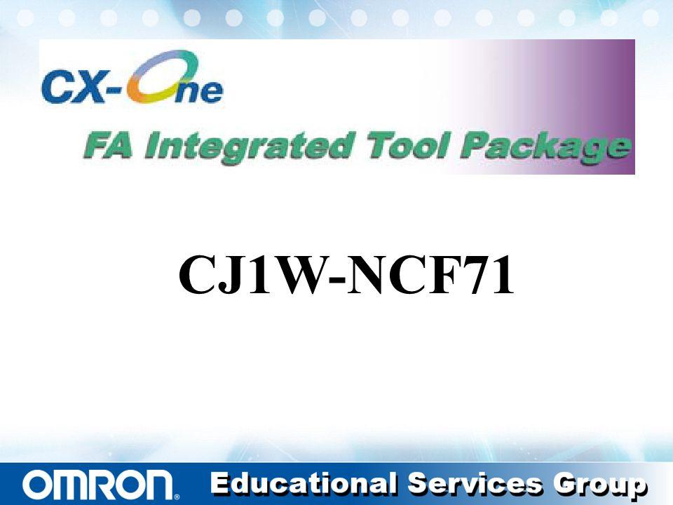 Setup of NCF CJ1W-NCF71