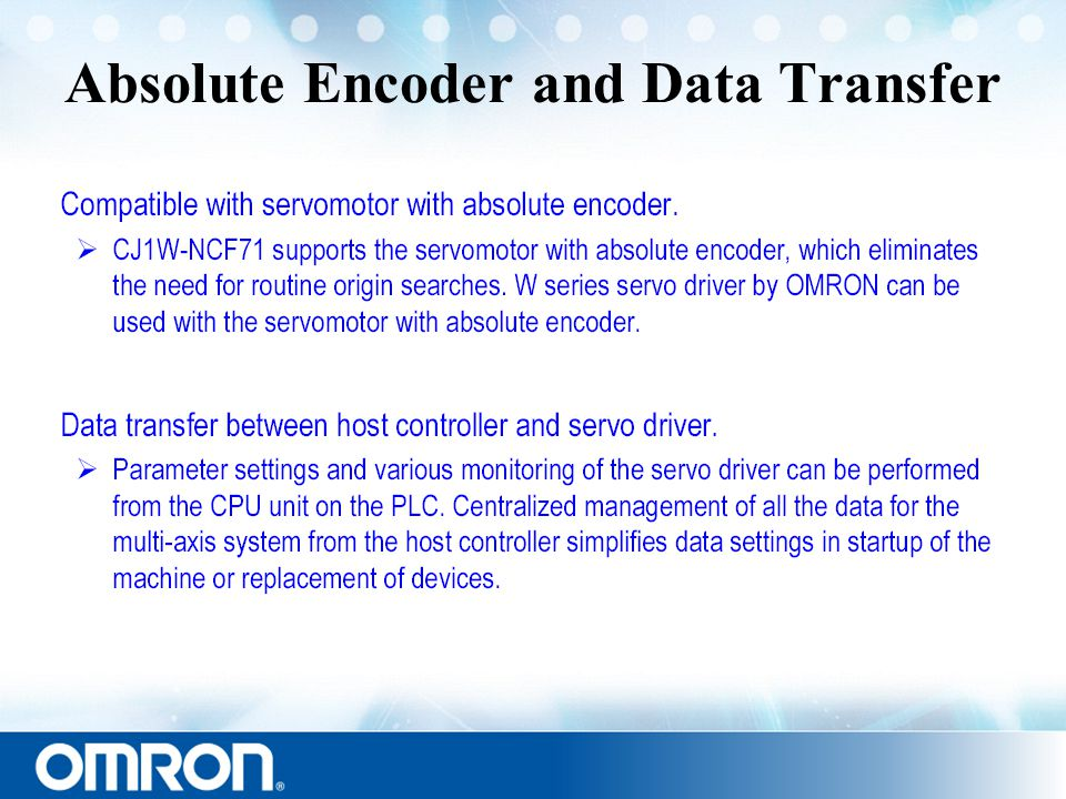Absolute Encoder and Data Transfer