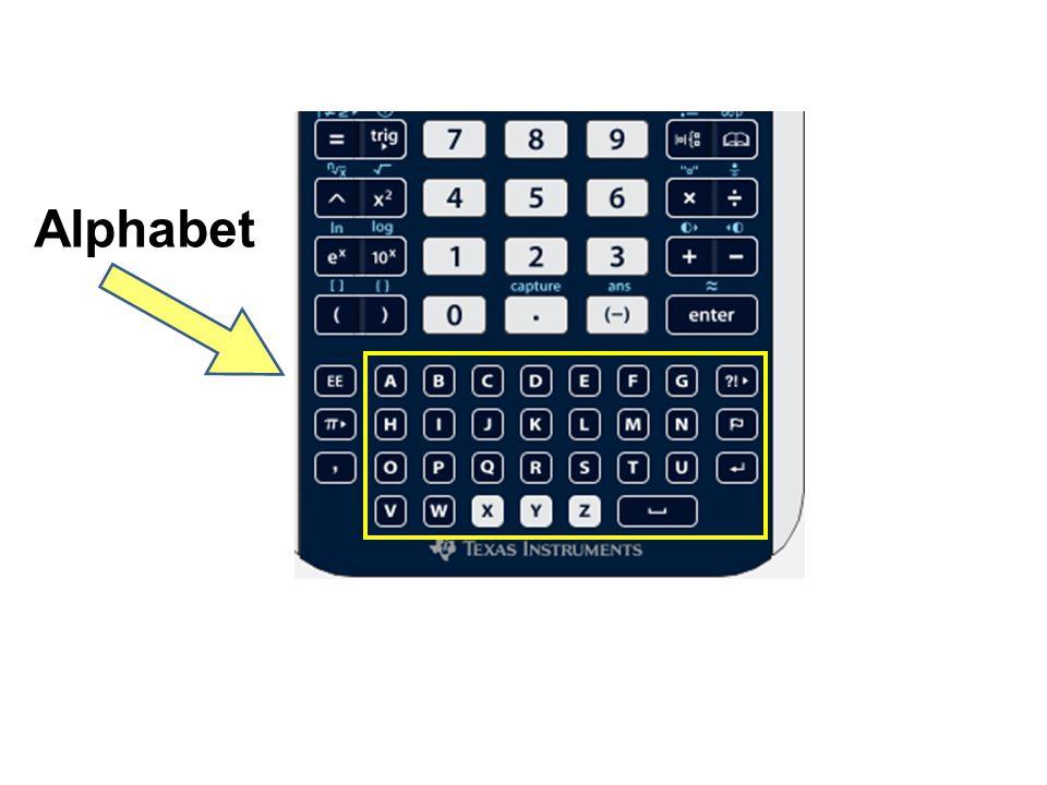 Escape Tab Control Backspace Shift ScratchPad Variables