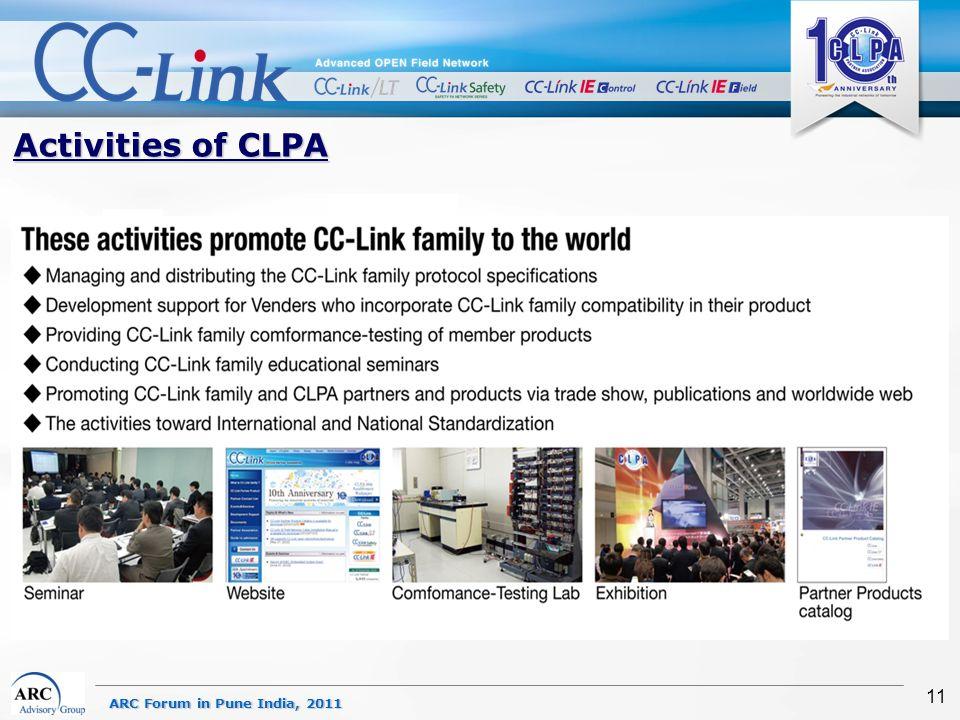 ARC Forum in Pune India, 2011 11 Activities of CLPA