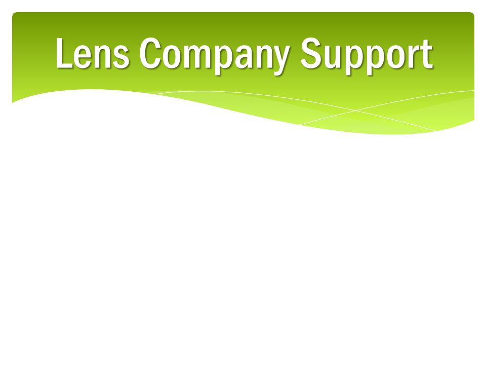 Lens Company Support