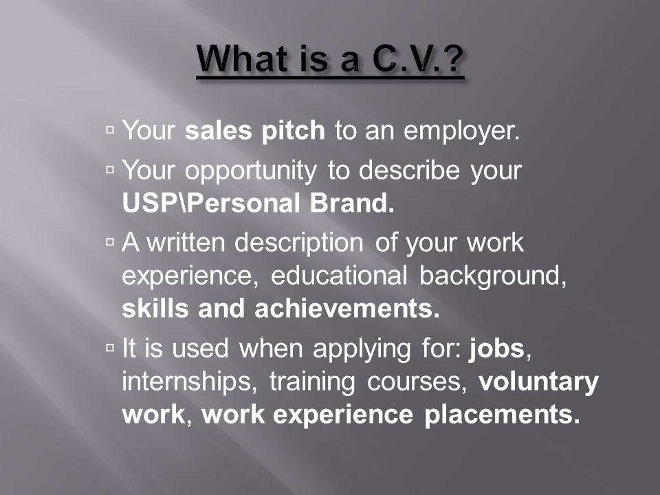 What makes a good C.V..