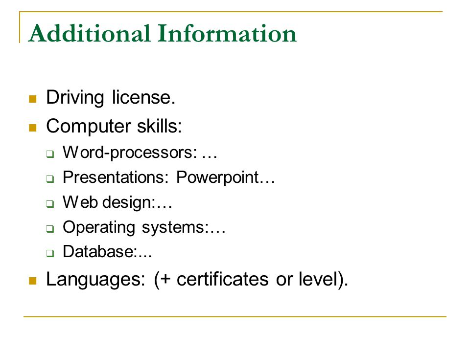 CV WRITING  BASICS . Cv Name Address Tel: PARTS OF A CV .