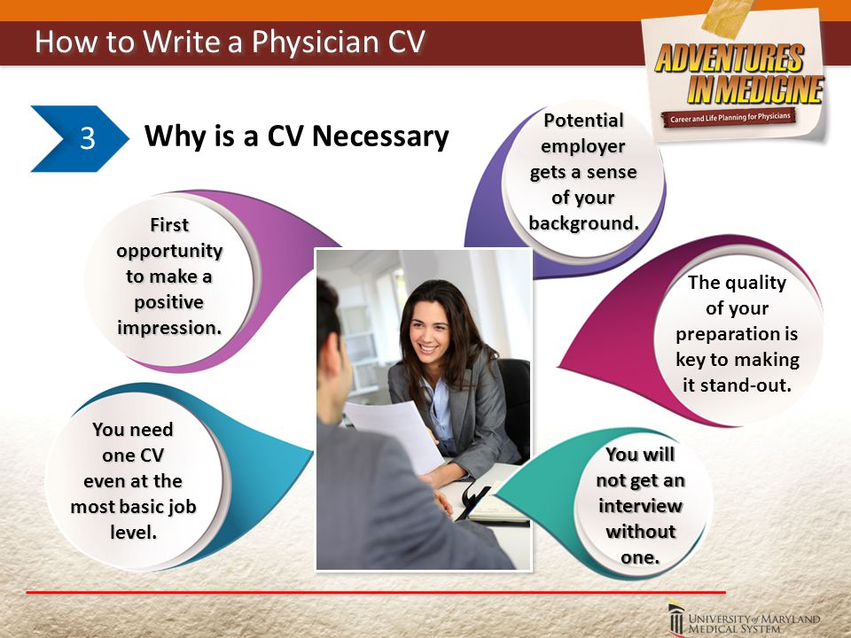 Why is a CV Necessary 3 You need one CV even at the most basic job level.