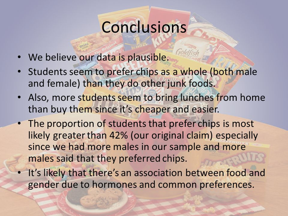 Conclusions We believe our data is plausible.