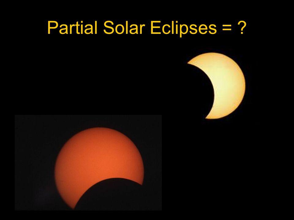 Partial Solar Eclipses = ?