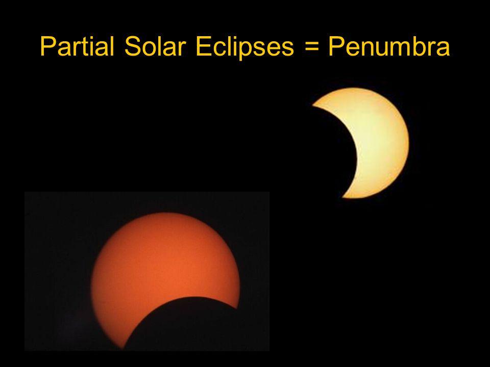Partial Solar Eclipses = Penumbra